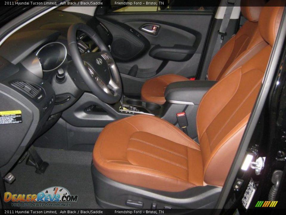 Black Saddle Interior 2011 Hyundai Tucson Limited Photo 11
