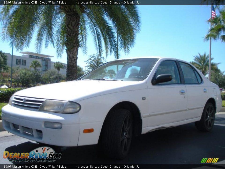 1996 nissan altima gxe cloud white beige photo 2 dealerrevs com dealerrevs com