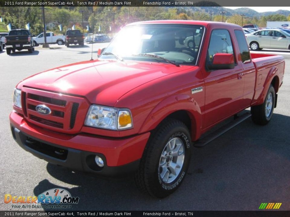 2011 ford ranger sport supercab 4x4 torch red medium dark flint photo 2. Black Bedroom Furniture Sets. Home Design Ideas