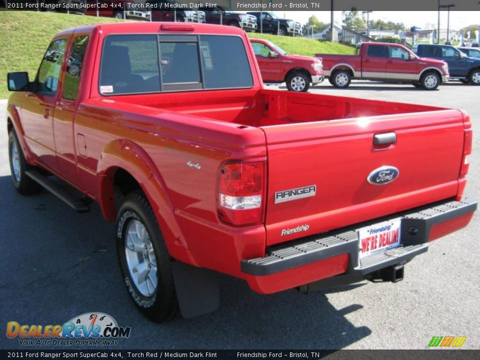 2011 ford ranger sport supercab 4x4 torch red medium dark flint photo 8. Black Bedroom Furniture Sets. Home Design Ideas