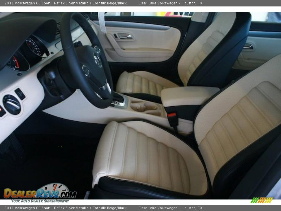 cornsilk beige black interior 2011 volkswagen cc sport photo 5. Black Bedroom Furniture Sets. Home Design Ideas