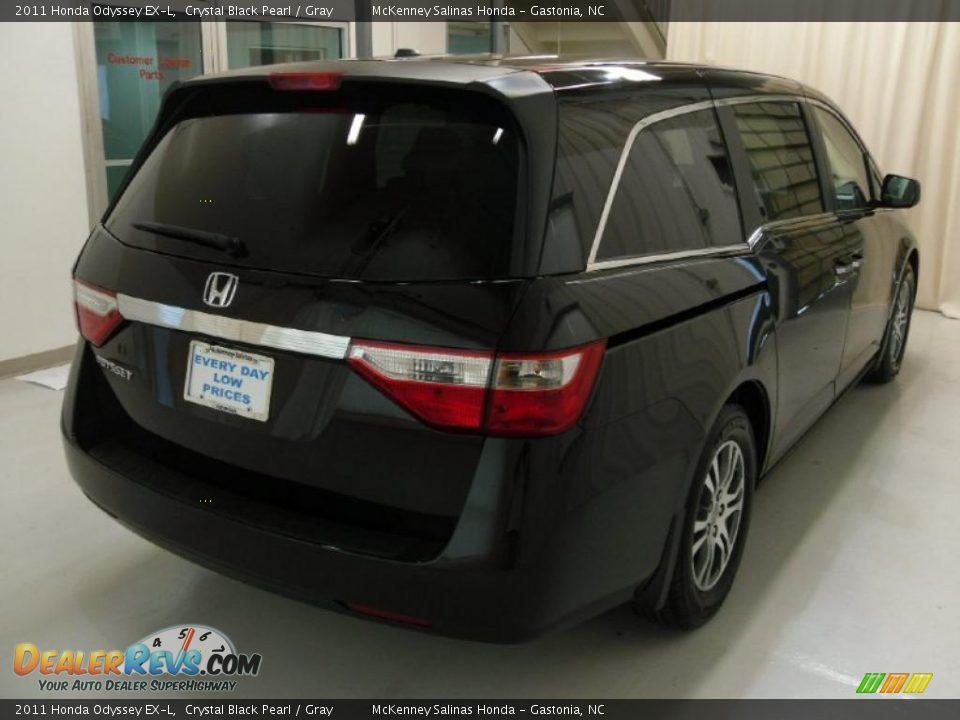 2011 Honda Odyssey EX-L Crystal Black Pearl / Gray Photo #4 ...