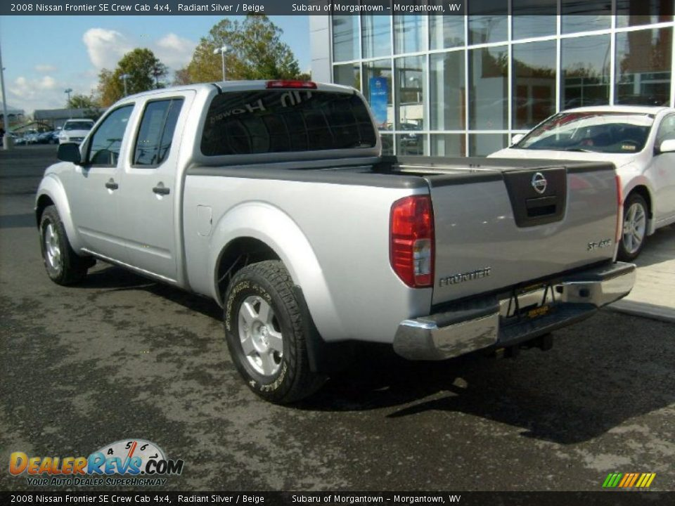 Nissan Frontier Crew Cab >> 2008 Nissan Frontier SE Crew Cab 4x4 Radiant Silver ...