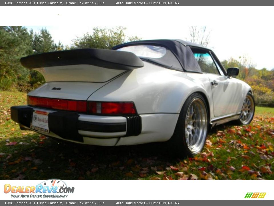 1988 porsche 911 turbo cabriolet grand prix white blue photo 3. Black Bedroom Furniture Sets. Home Design Ideas