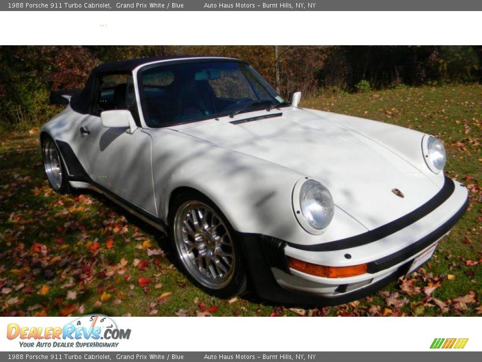 1988 porsche 911 turbo cabriolet grand prix white blue photo 7. Black Bedroom Furniture Sets. Home Design Ideas