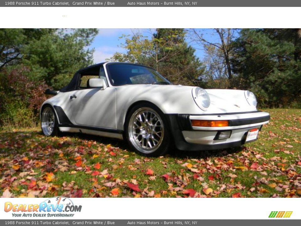 1988 porsche 911 turbo cabriolet grand prix white blue. Black Bedroom Furniture Sets. Home Design Ideas