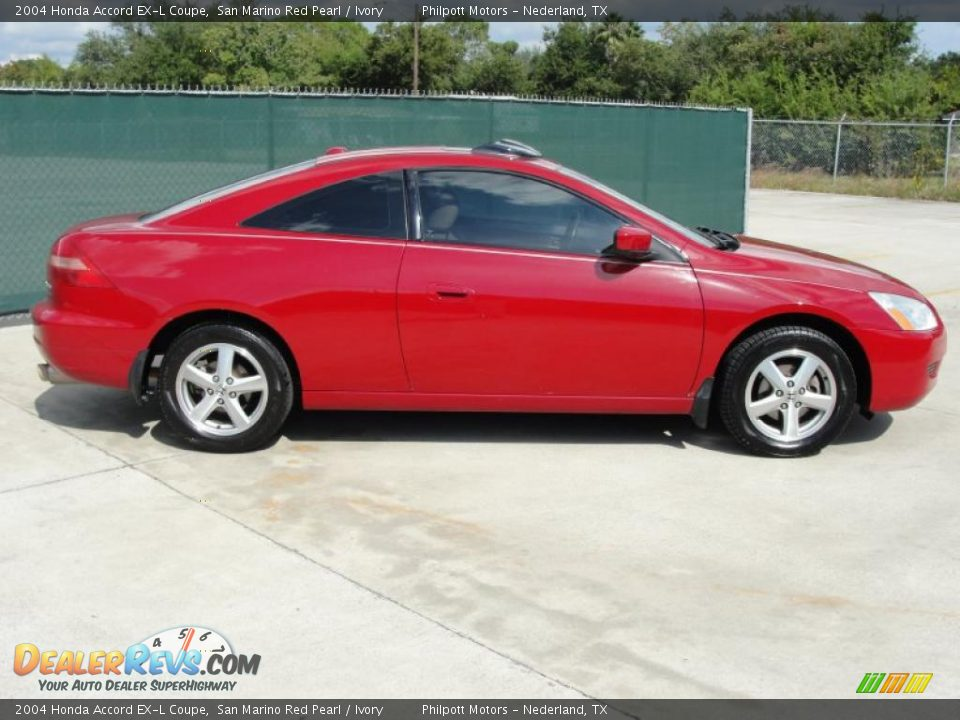 2004 honda accord ex l coupe san marino red pearl ivory. Black Bedroom Furniture Sets. Home Design Ideas