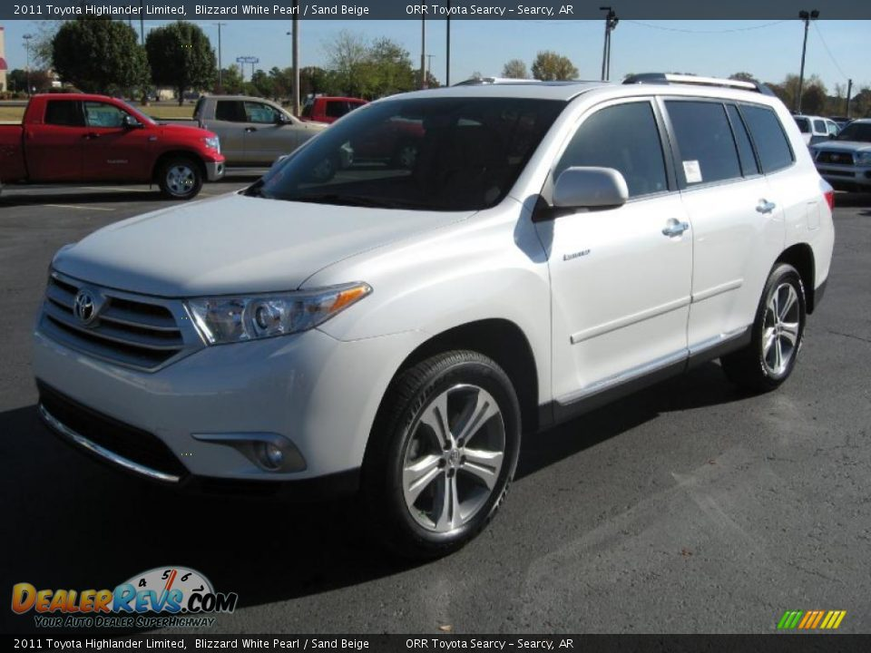 2011 Toyota Highlander Limited Blizzard White Pearl Sand