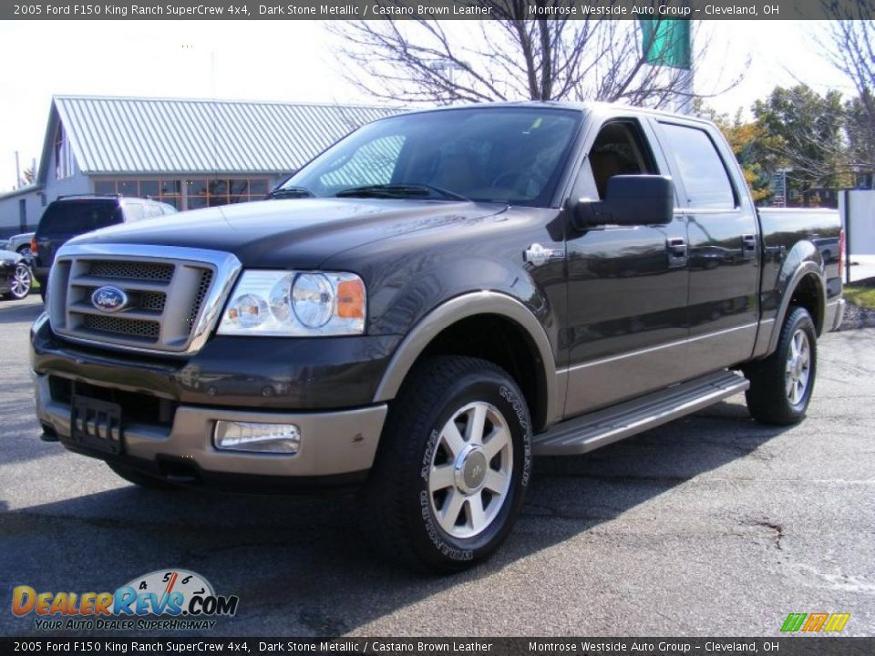 2005 Ford F150 King Ranch Supercrew 4x4 Dark Stone Metallic Castano Brown Leather Photo 1