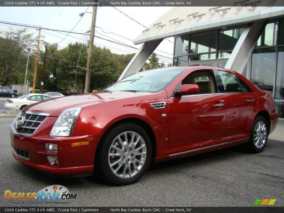 2009 Cadillac Sts 4 V6 Awd Crystal Red Cashmere Photo 1