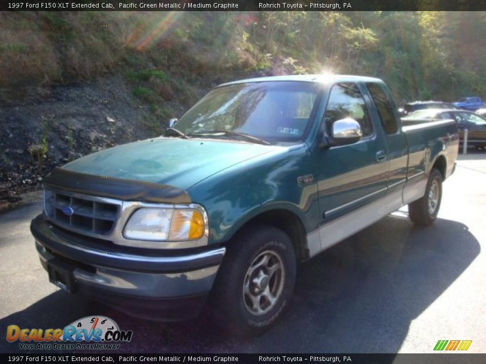 1997 ford f150 xlt extended cab pacific green metallic medium graphite photo 11. Black Bedroom Furniture Sets. Home Design Ideas