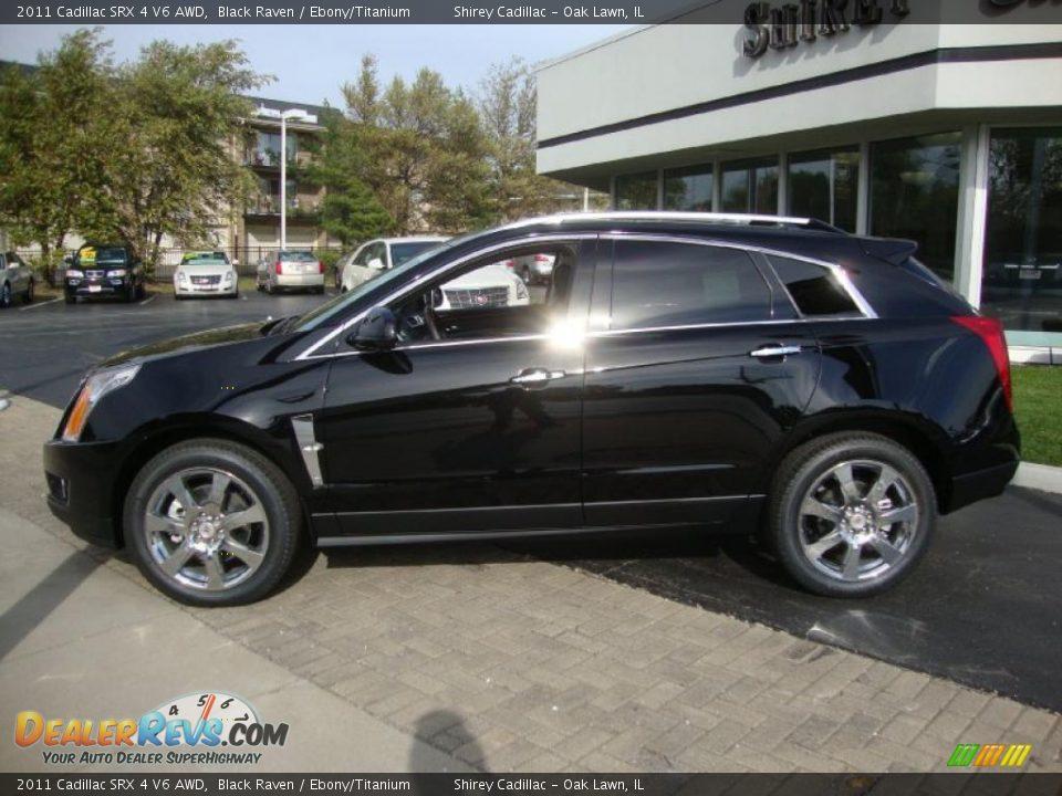 2011 Cadillac Srx 4 V6 Awd Black Raven Ebony Titanium