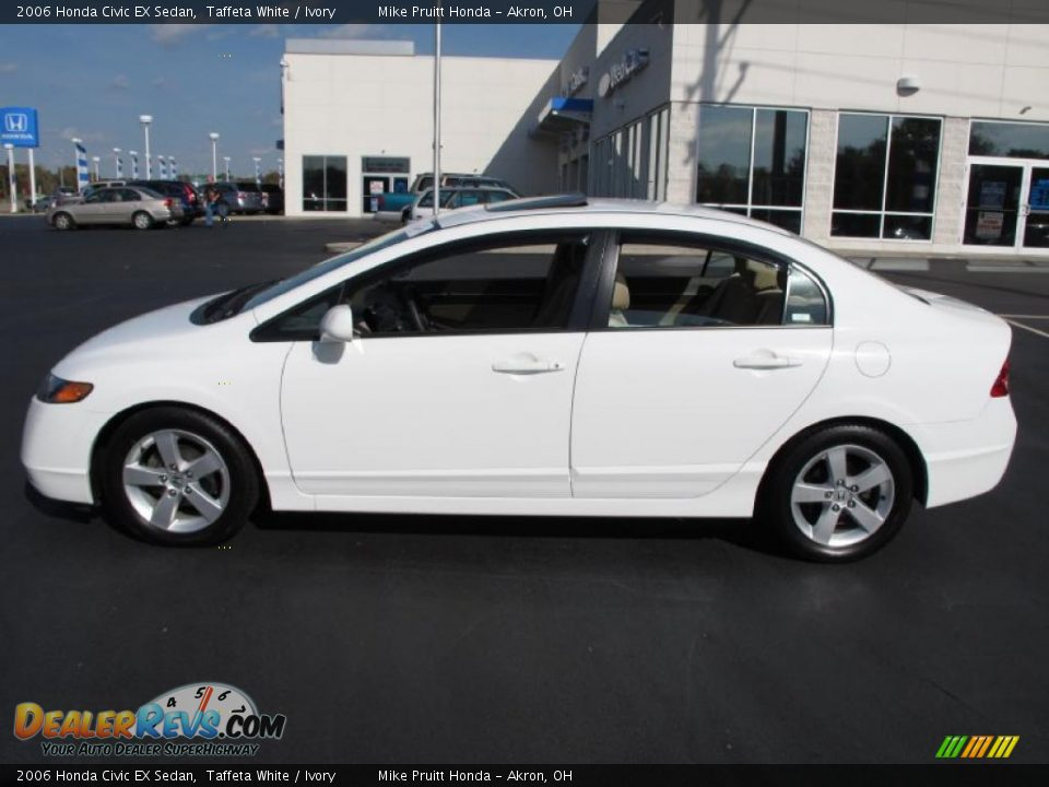 2006 honda civic ex sedan taffeta white ivory photo 1. Black Bedroom Furniture Sets. Home Design Ideas