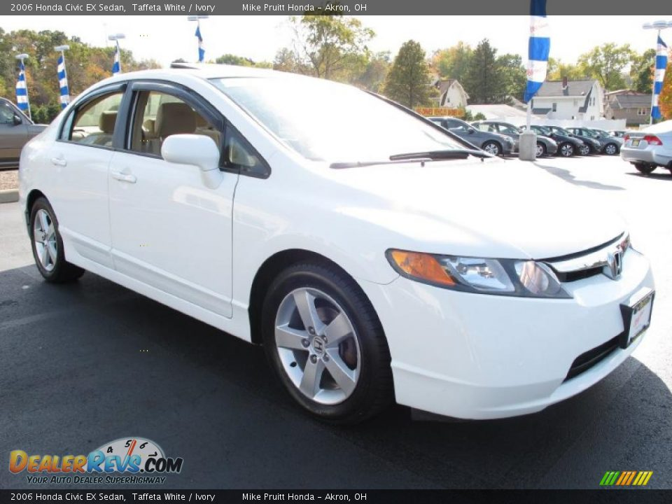 2006 honda civic ex sedan taffeta white ivory photo 5. Black Bedroom Furniture Sets. Home Design Ideas