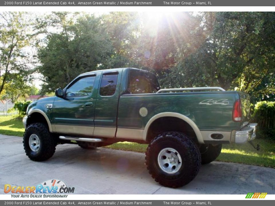 2000 ford f150 lariat extended cab 4x4 amazon green metallic medium parchment photo 4. Black Bedroom Furniture Sets. Home Design Ideas