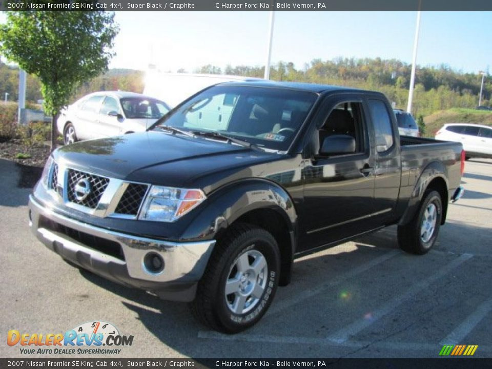 2007 nissan frontier se king cab 4x4 super black graphite photo 4. Black Bedroom Furniture Sets. Home Design Ideas