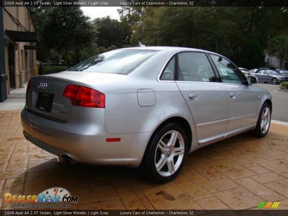 2008 Audi A4 2.0T Sedan Light Silver Metallic / Light Gray Photo #7 ...