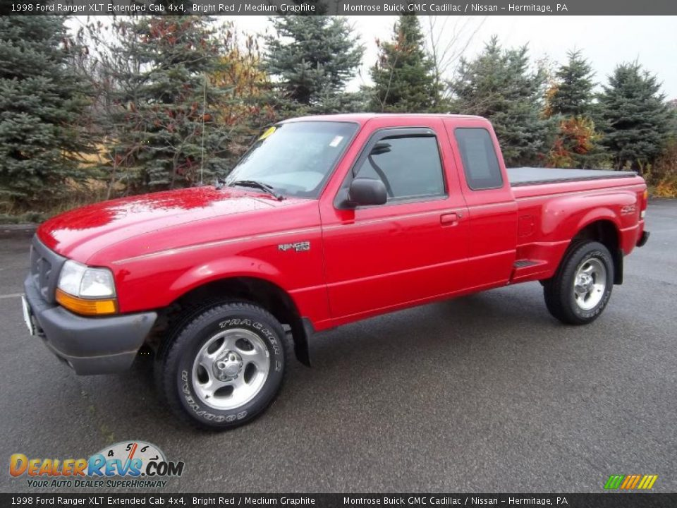 1998 ford ranger xlt extended cab 4x4 bright red medium graphite photo 2. Black Bedroom Furniture Sets. Home Design Ideas