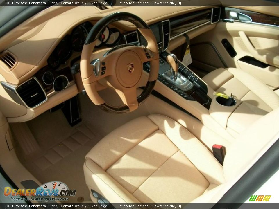 Luxor Beige Interior - 2011 Porsche Panamera Turbo Photo #11 ...