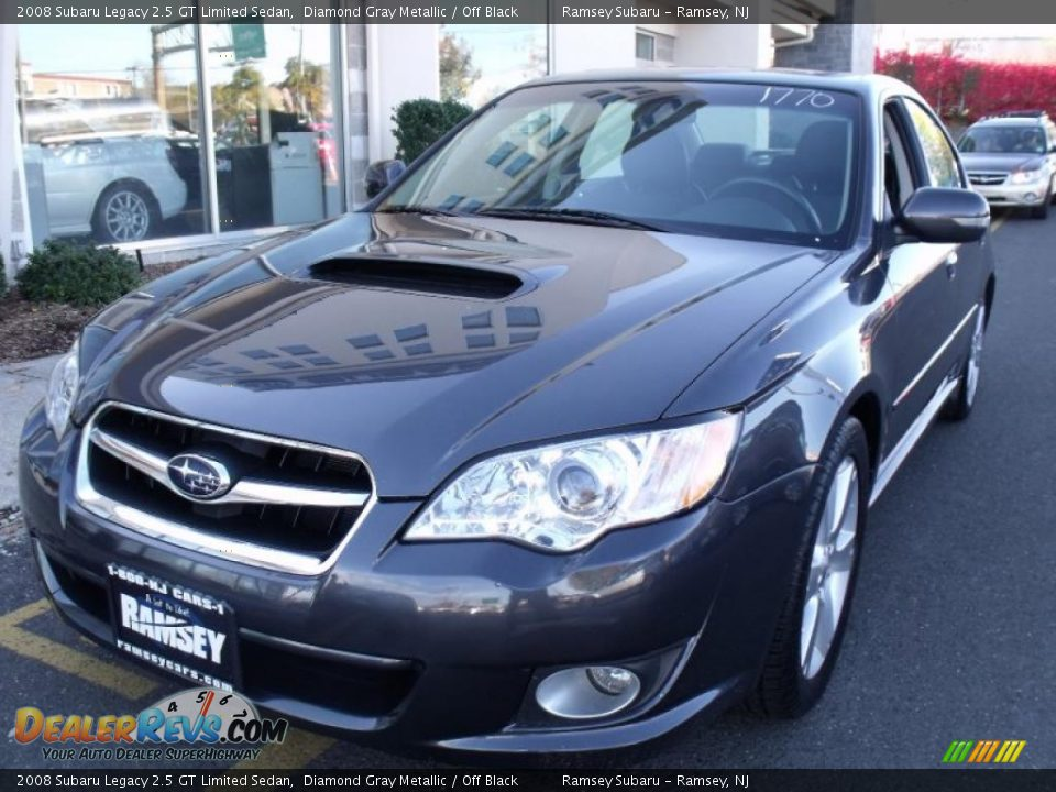 2008 subaru legacy 2 5 gt limited sedan diamond gray metallic off black photo 1. Black Bedroom Furniture Sets. Home Design Ideas