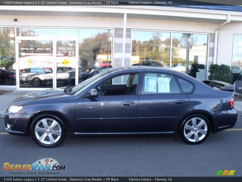 2008 subaru legacy 2 5 gt limited sedan diamond gray metallic off black photo 2. Black Bedroom Furniture Sets. Home Design Ideas