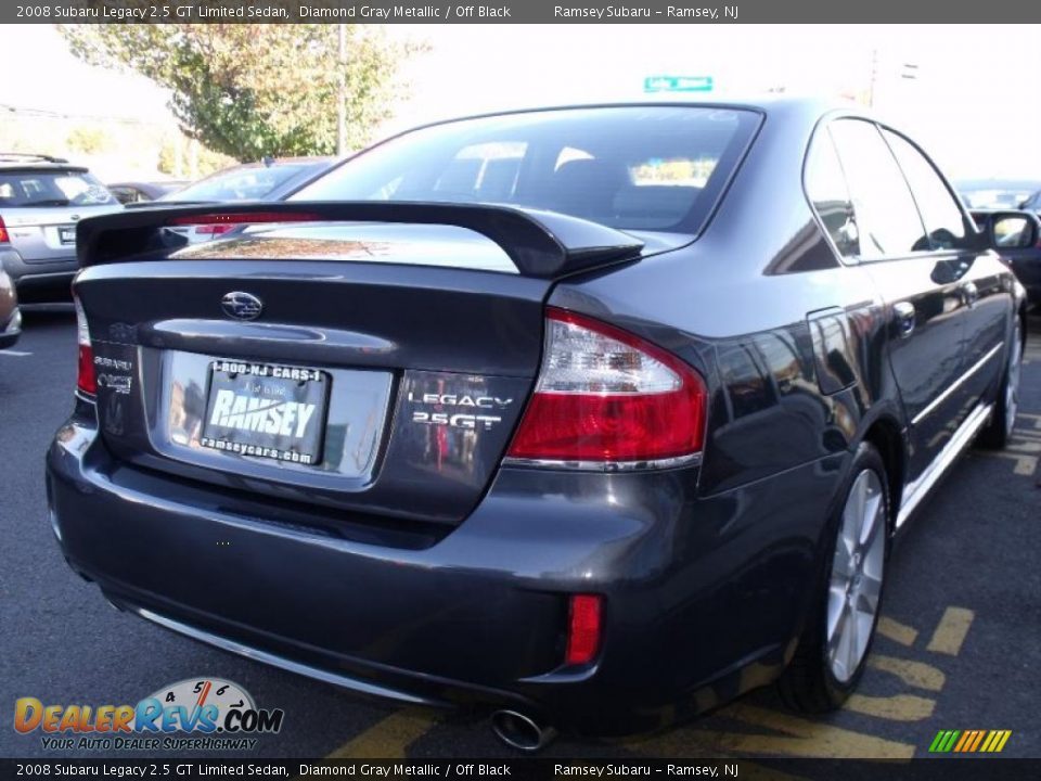 2008 subaru legacy 2 5 gt limited sedan diamond gray metallic off black photo 6. Black Bedroom Furniture Sets. Home Design Ideas