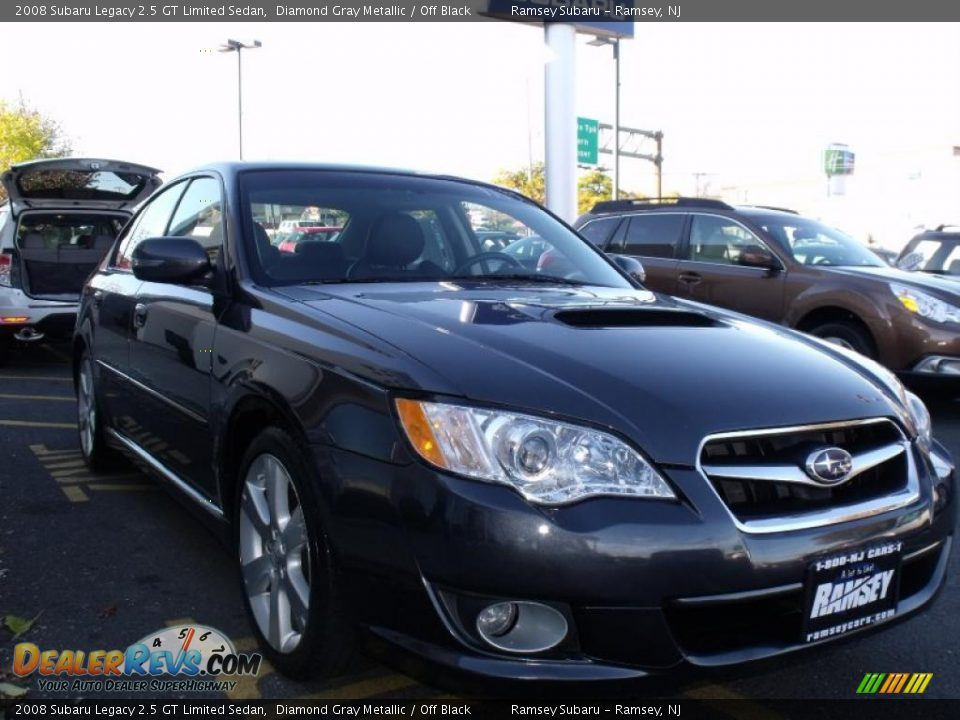 2008 subaru legacy 2 5 gt limited sedan diamond gray metallic off black photo 9. Black Bedroom Furniture Sets. Home Design Ideas