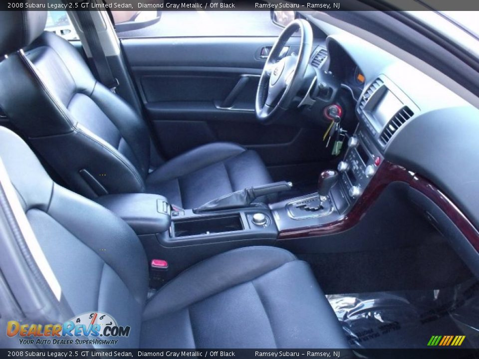 off black interior 2008 subaru legacy 2 5 gt limited sedan photo 11. Black Bedroom Furniture Sets. Home Design Ideas