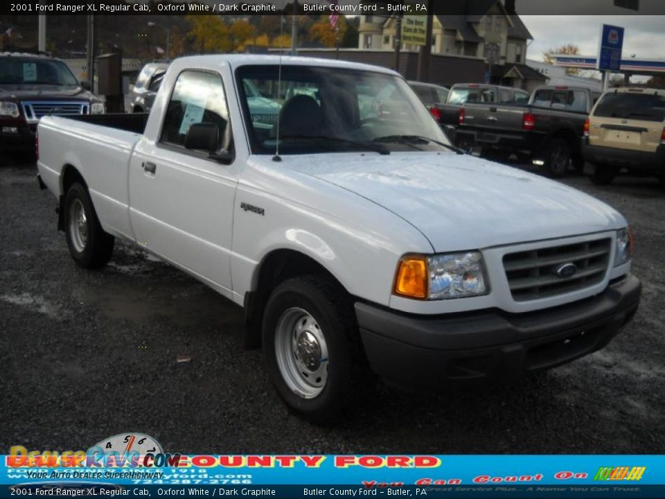 2001 Ford Ranger Xl Regular Cab Oxford White Dark