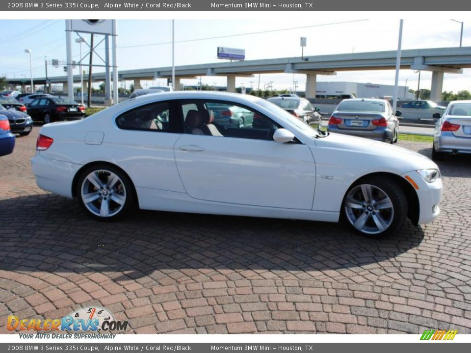 2008 bmw 3 series 335i coupe alpine white coral red black photo 6. Black Bedroom Furniture Sets. Home Design Ideas