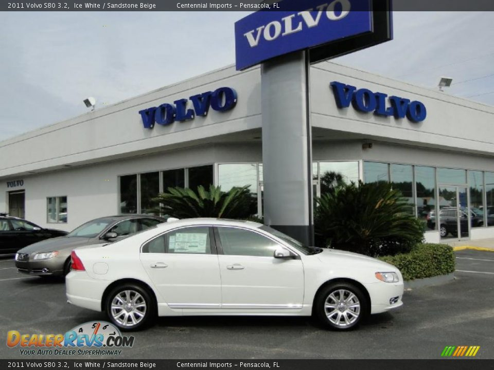2011 volvo s80 3 2 ice white sandstone beige photo 4. Black Bedroom Furniture Sets. Home Design Ideas