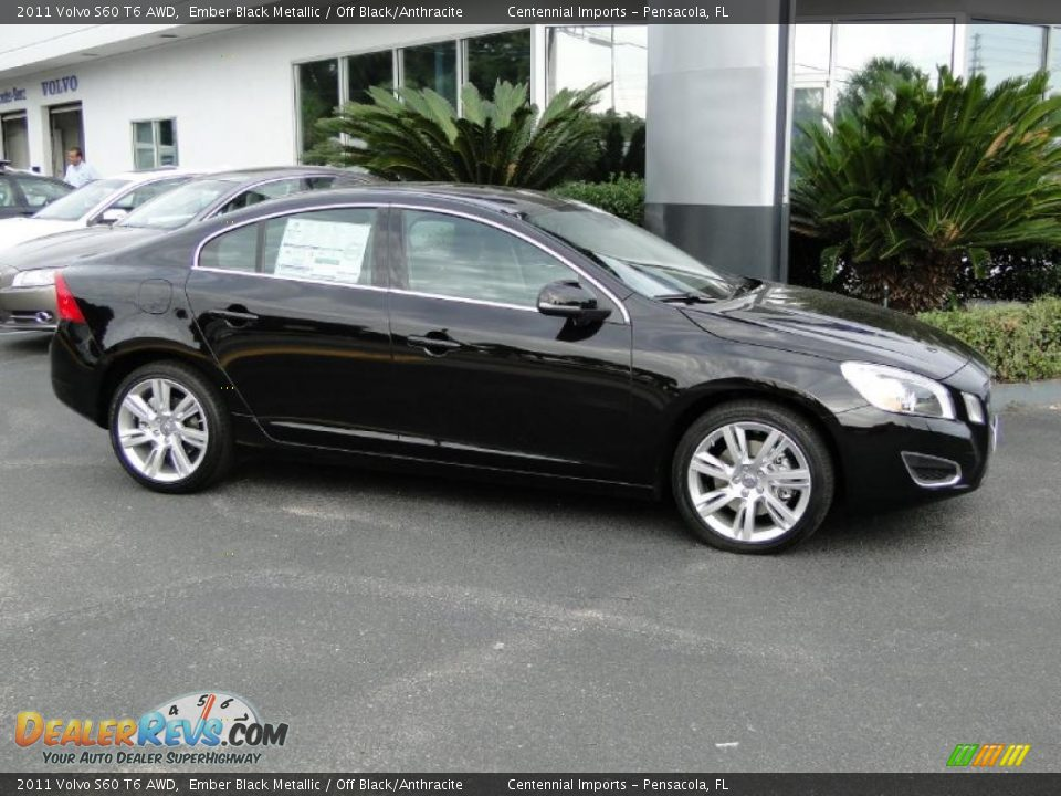 2011 volvo s60 t6 awd ember black metallic off black. Black Bedroom Furniture Sets. Home Design Ideas