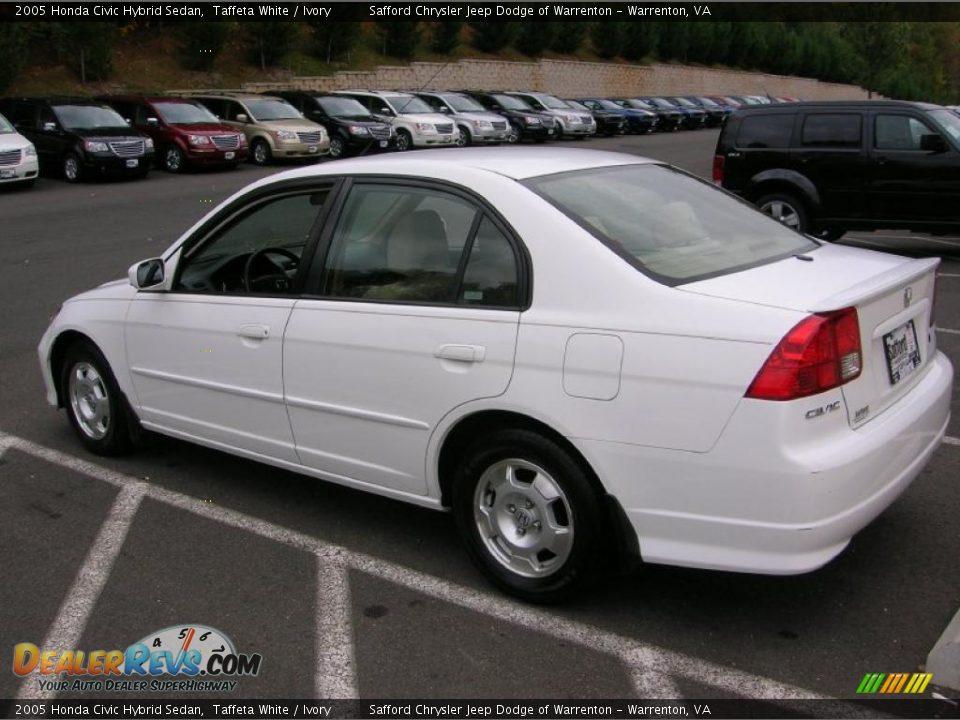 2005 honda civic hybrid sedan taffeta white ivory photo