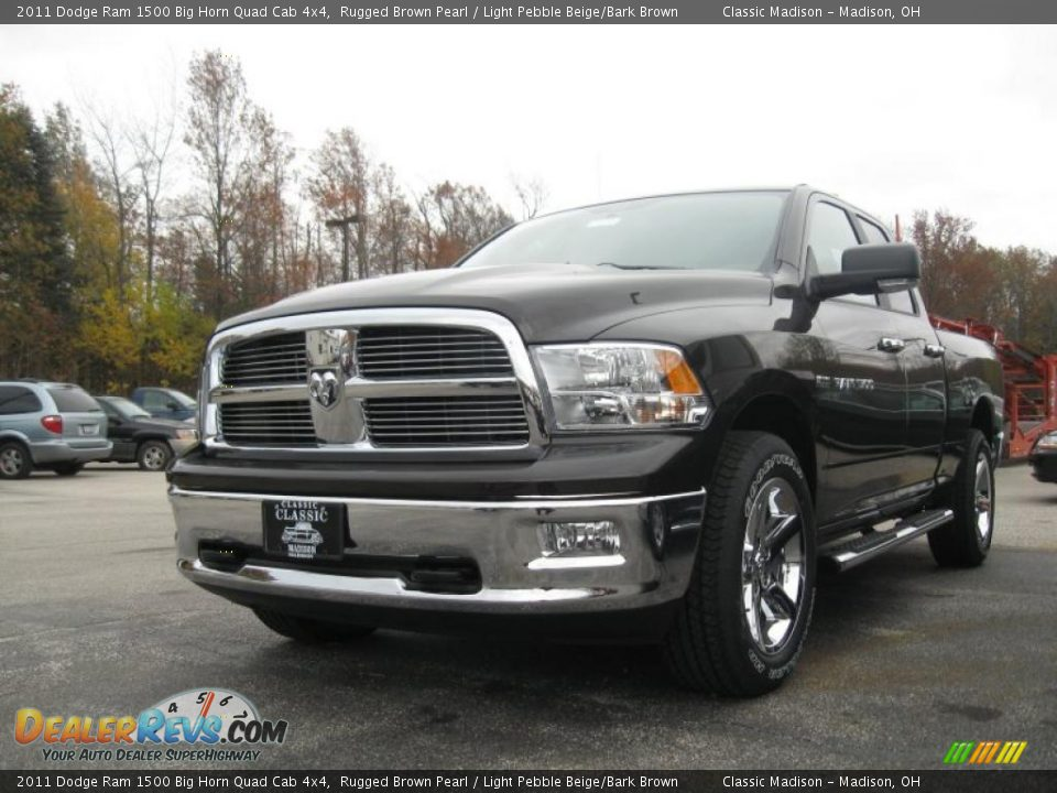 2011 dodge ram 1500 big horn quad cab 4x4 rugged brown pearl light pebble beige bark brown. Black Bedroom Furniture Sets. Home Design Ideas