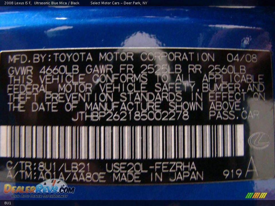 Lexus Color Code 8u1 Ultrasonic Blue Mica Dealerrevs Com
