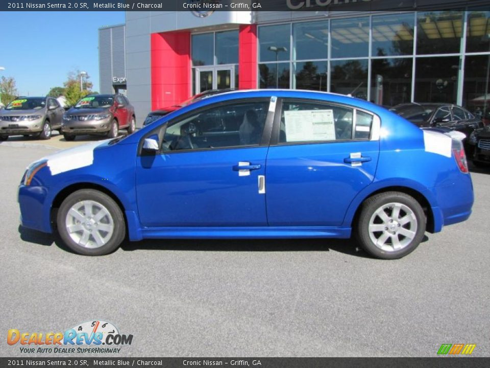 2011 Nissan Sentra 2.0 SR Metallic Blue / Charcoal Photo #2 ...