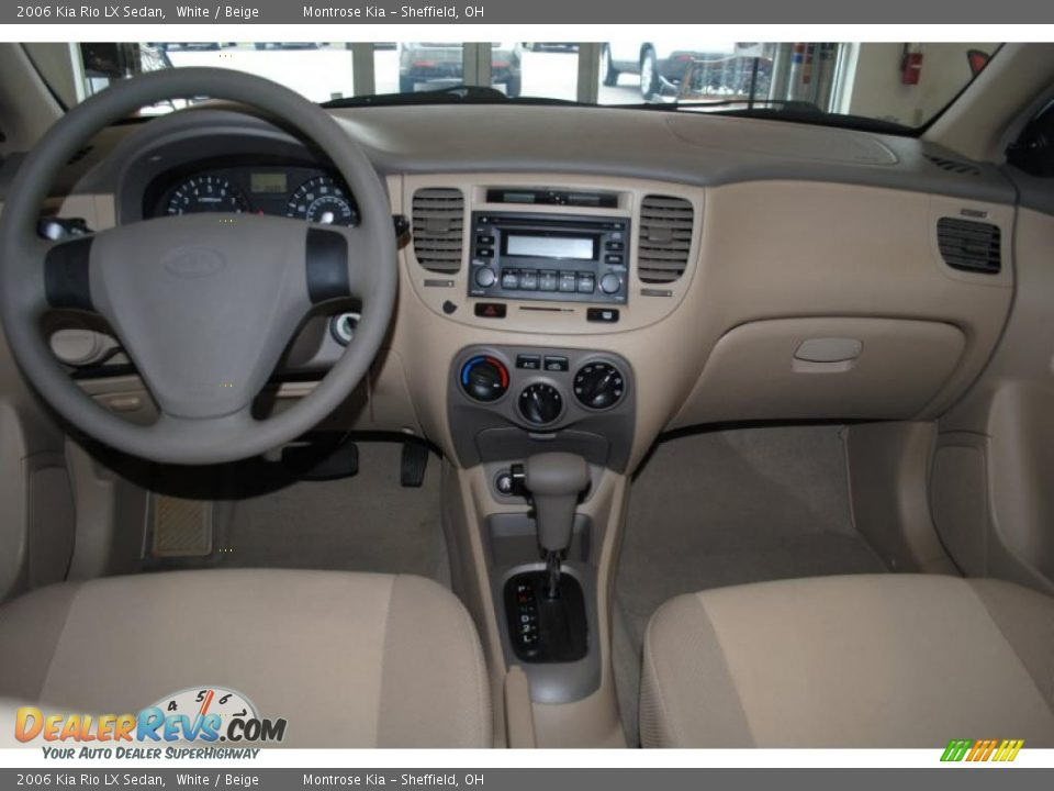 Beige interior 2006 kia rio lx sedan photo 11 dealerrevs com