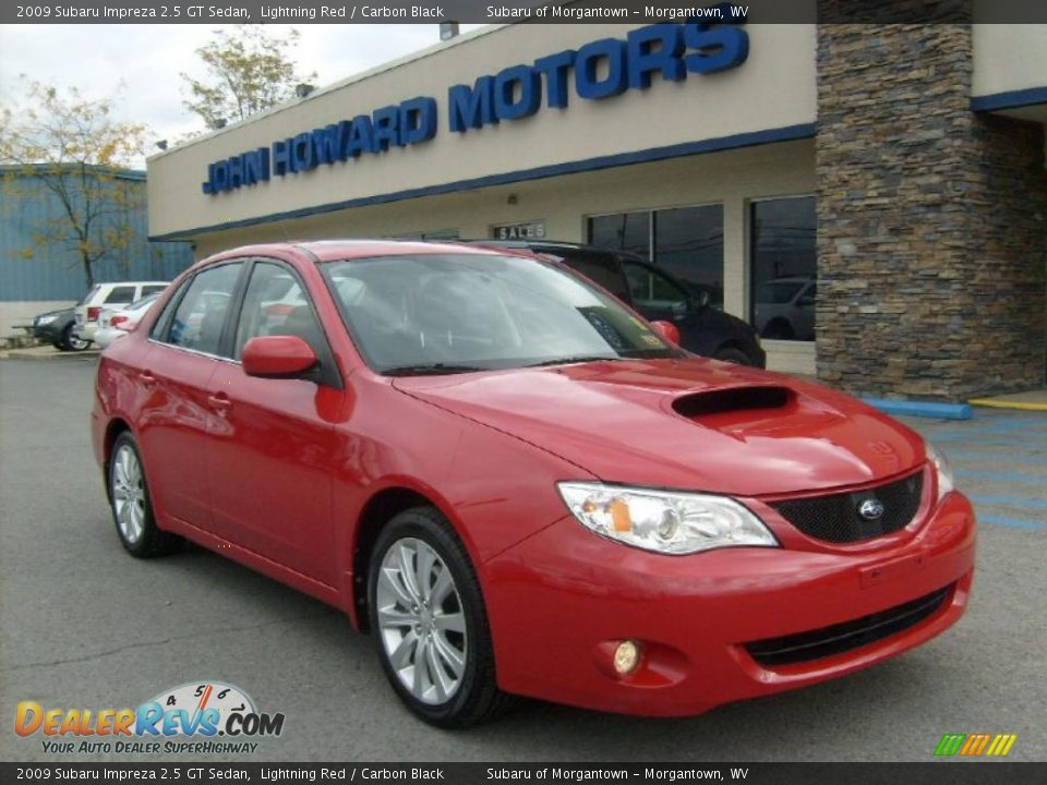 2009 subaru impreza 2 5 gt sedan lightning red carbon. Black Bedroom Furniture Sets. Home Design Ideas