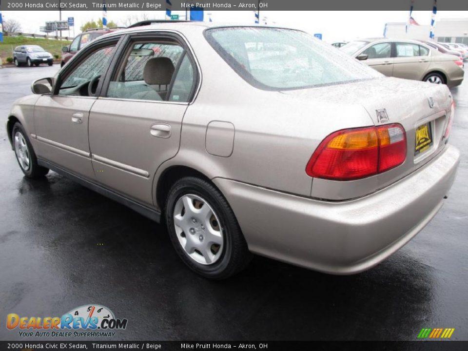 2000 Honda Civic EX Sedan Titanium Metallic / Beige Photo ...