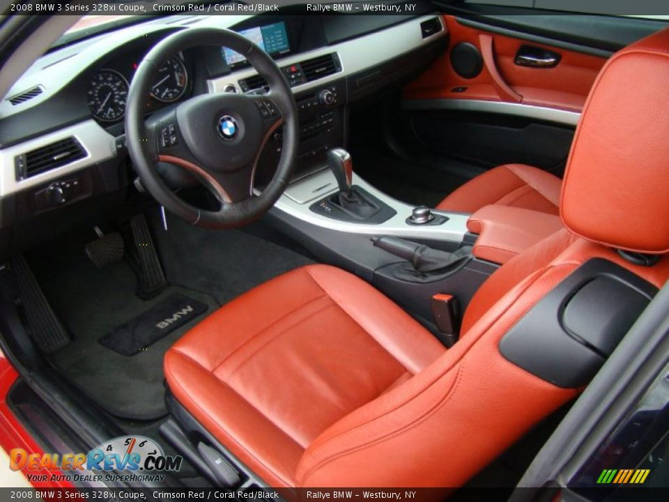 Coral Red Black Interior 2008 Bmw 3 Series 328xi Coupe Photo 10