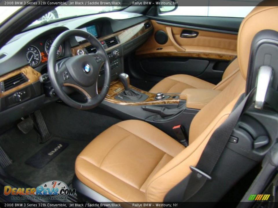 saddle brown black interior 2008 bmw 3 series 328i convertible photo 10. Black Bedroom Furniture Sets. Home Design Ideas