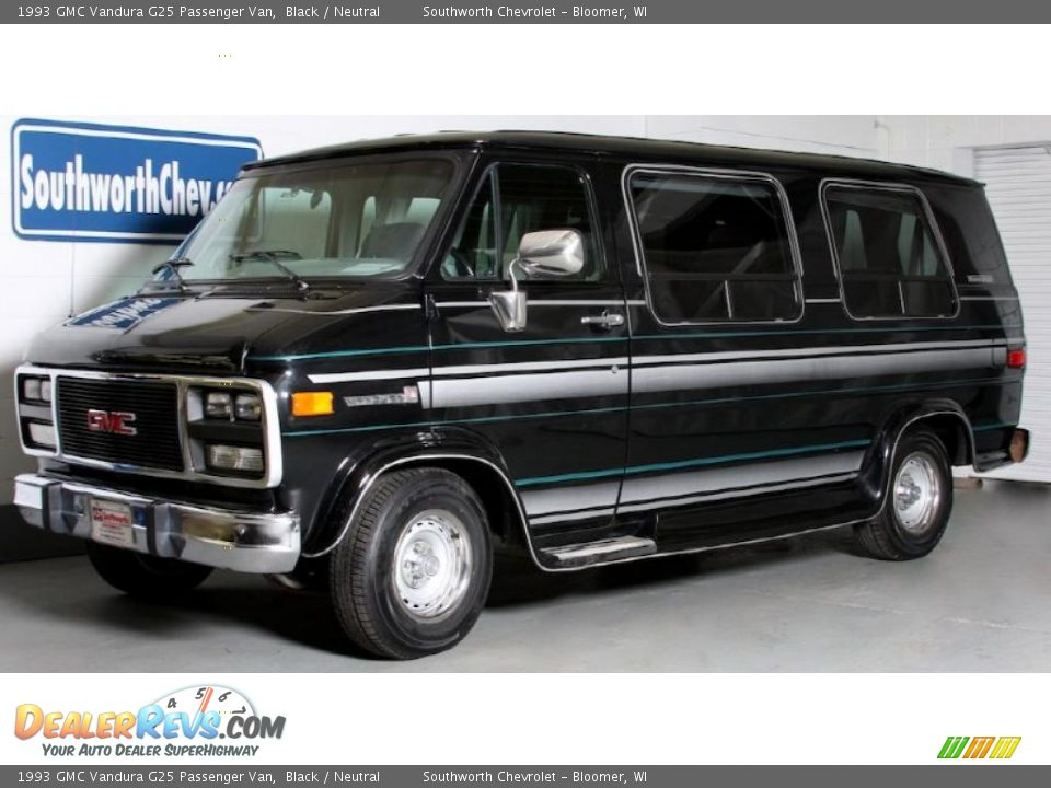 1993 gmc vandura g25 passenger van black neutral photo 1. Black Bedroom Furniture Sets. Home Design Ideas