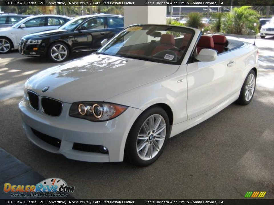 Bmw 128I Convertible >> 2010 BMW 1 Series 128i Convertible Alpine White / Coral Red Boston Leather Photo #1 | DealerRevs.com