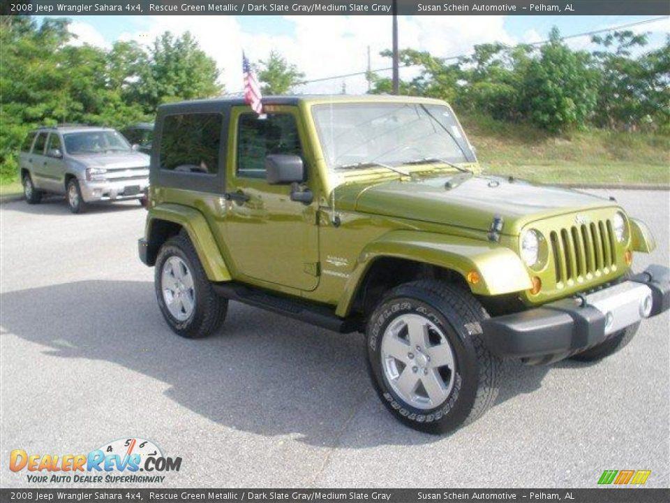 2008 Jeep Wrangler Sahara 4x4 Rescue Green Metallic Dark