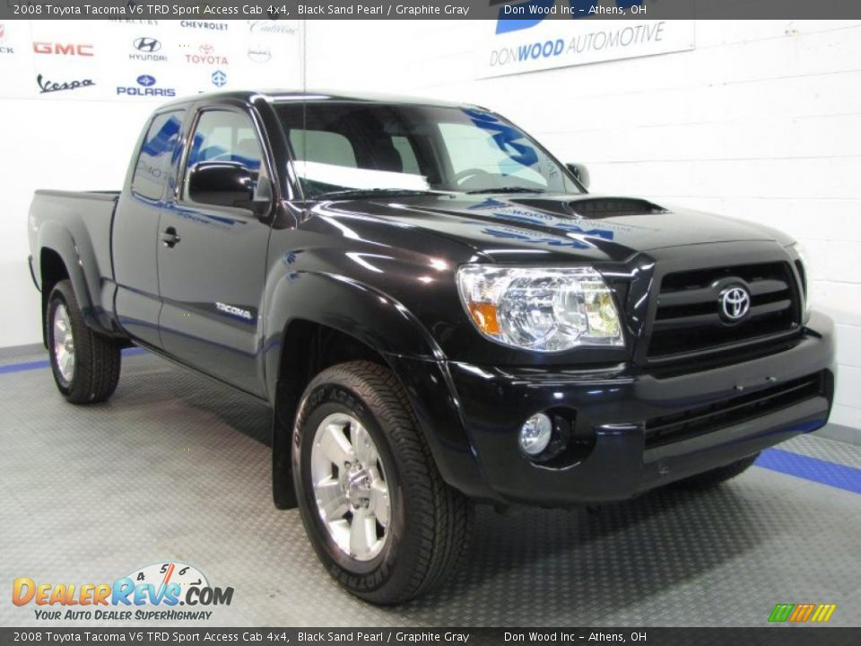front 3 4 view of 2008 toyota tacoma v6 trd sport access cab 4x4 photo 1. Black Bedroom Furniture Sets. Home Design Ideas