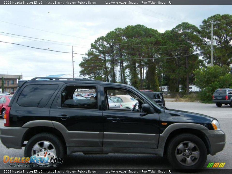 2003 Mazda Tribute ES-V6 Mystic Black / Medium Pebble Beige Photo #6 ...