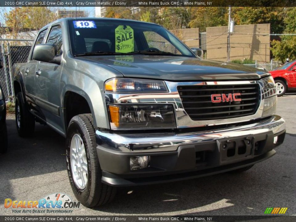 2010 gmc canyon sle crew cab 4x4 gray green metallic ebony photo 3. Black Bedroom Furniture Sets. Home Design Ideas