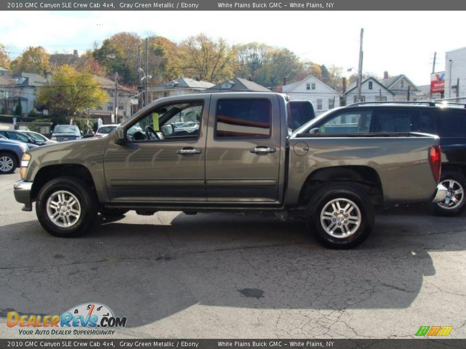 2010 gmc canyon sle crew cab 4x4 gray green metallic ebony photo 4. Black Bedroom Furniture Sets. Home Design Ideas