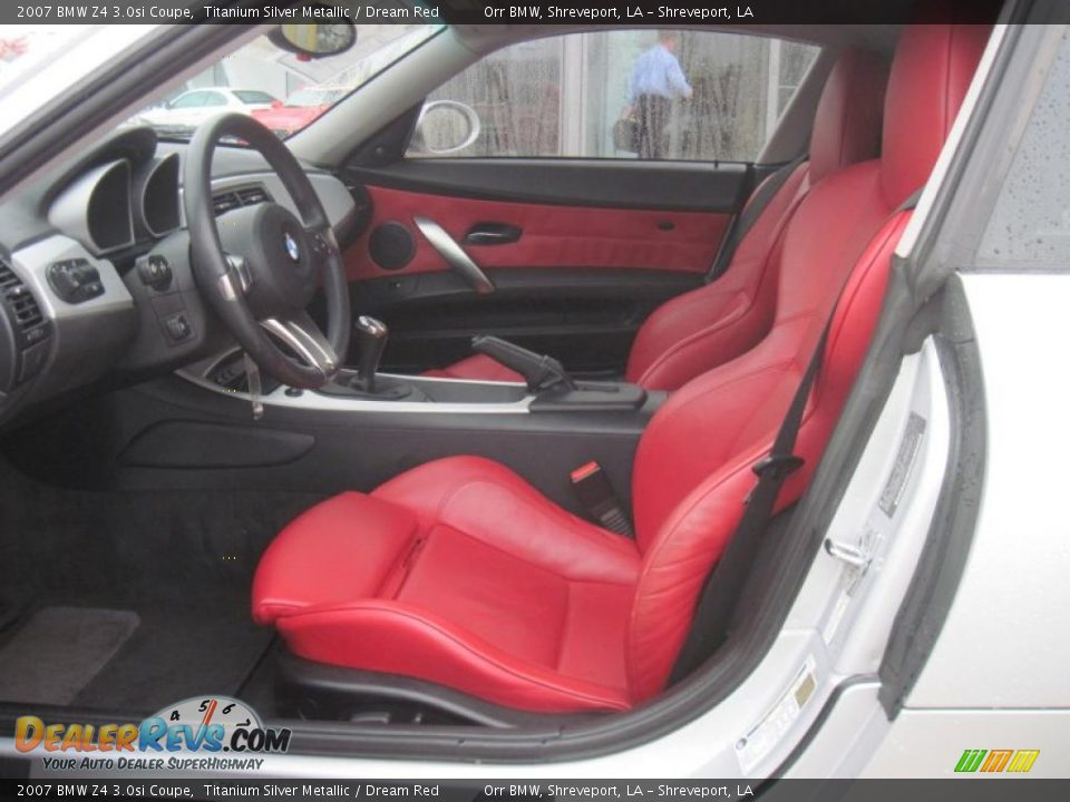 Dream Red Interior 2007 Bmw Z4 3 0si Coupe Photo 8