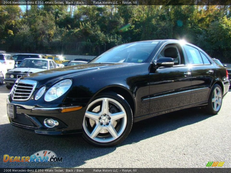 2008 mercedes benz e 350 4matic sedan black black photo for Mercedes benz e 350 2008